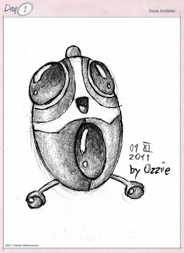 Berry the Robot by Ozzie Scribbler