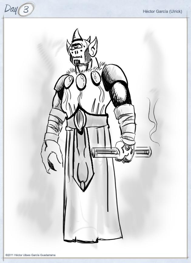 ciclope, warrior, priest,
