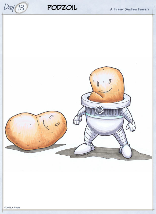 Potato in a robot suit