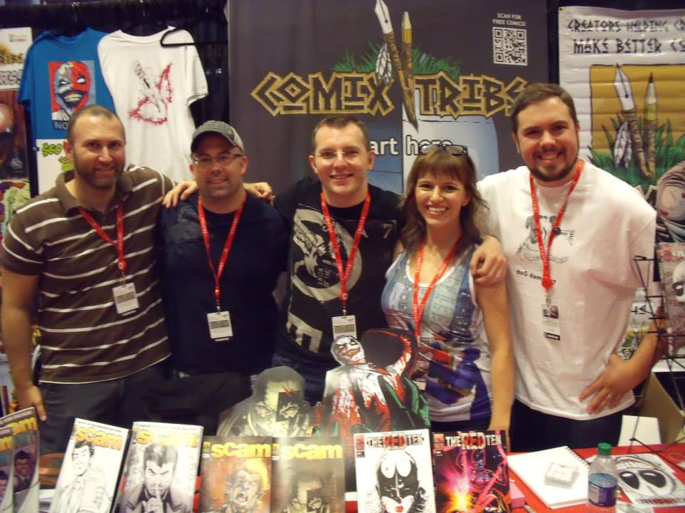 The ComixTribe Crew at New York Comic Con (Tyler James, Joe Mulvey, John Lees, Sam LeBas, Alex Cormack)