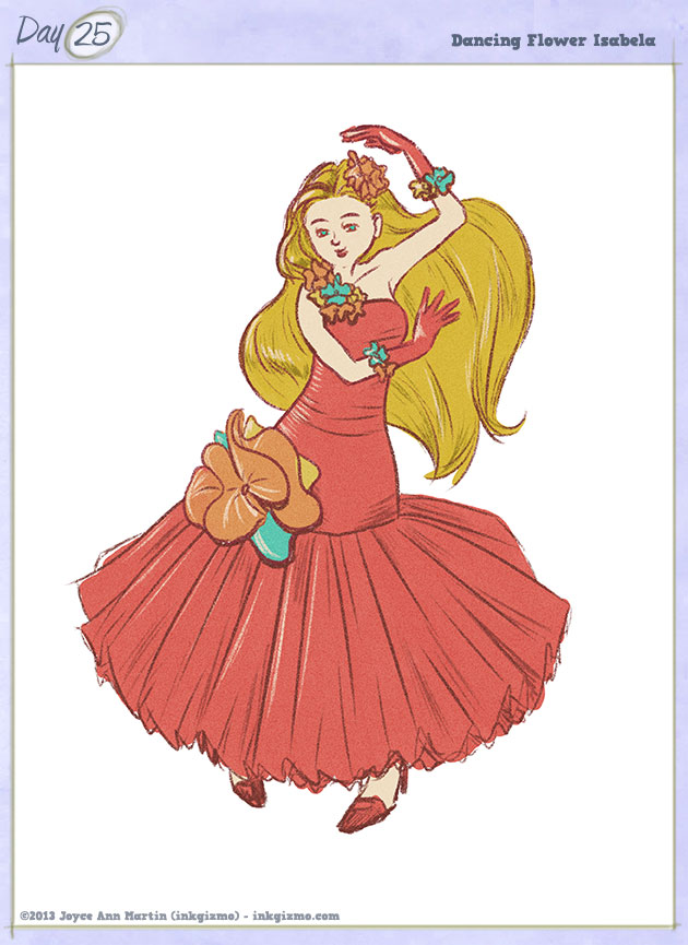 Joyce Ann Martin 2013 - 25: Dancing Flower Isabela