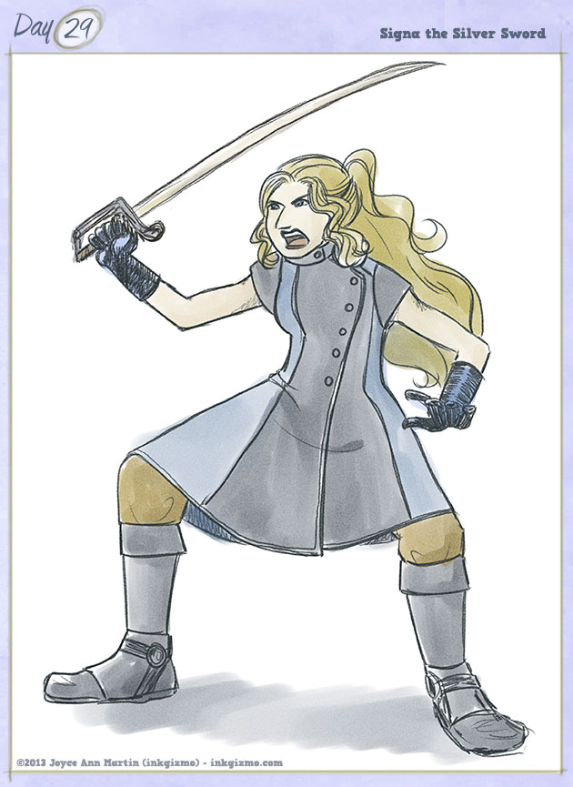 Joyce Ann Martin 2013 - 29: Signa the Silver Sword