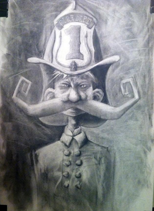 firefighter moustache