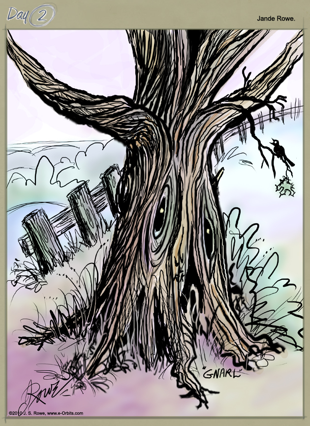 Day#02 GNARL, Tree Spirit for Aedre's Firefly by Jande Rowe