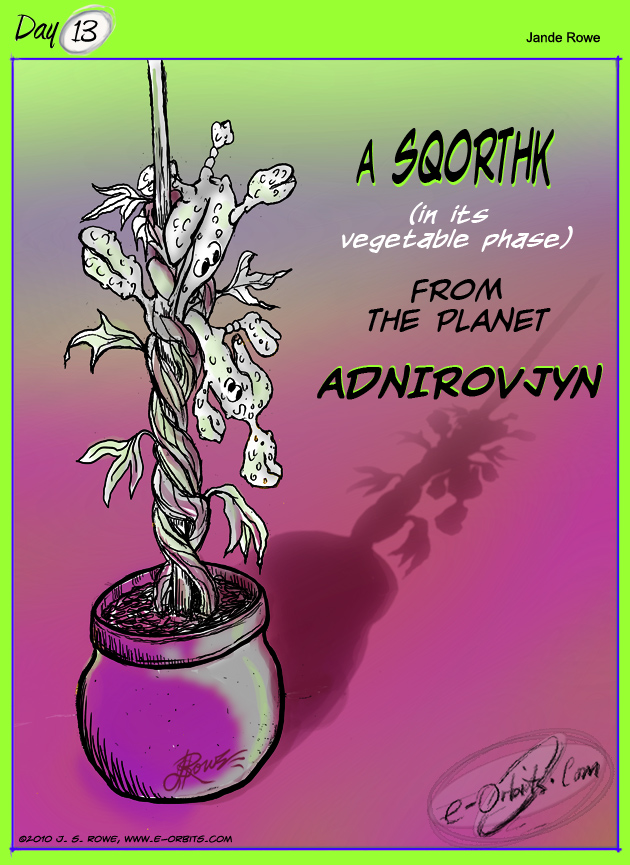 #13 a Sqorthk, by Jande Rowe