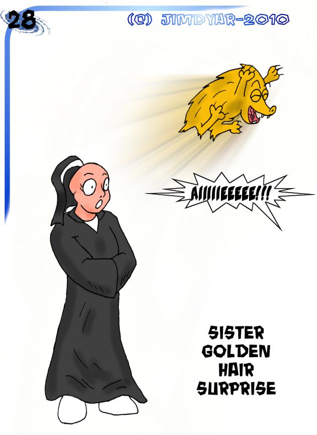 sister golden hair surprise