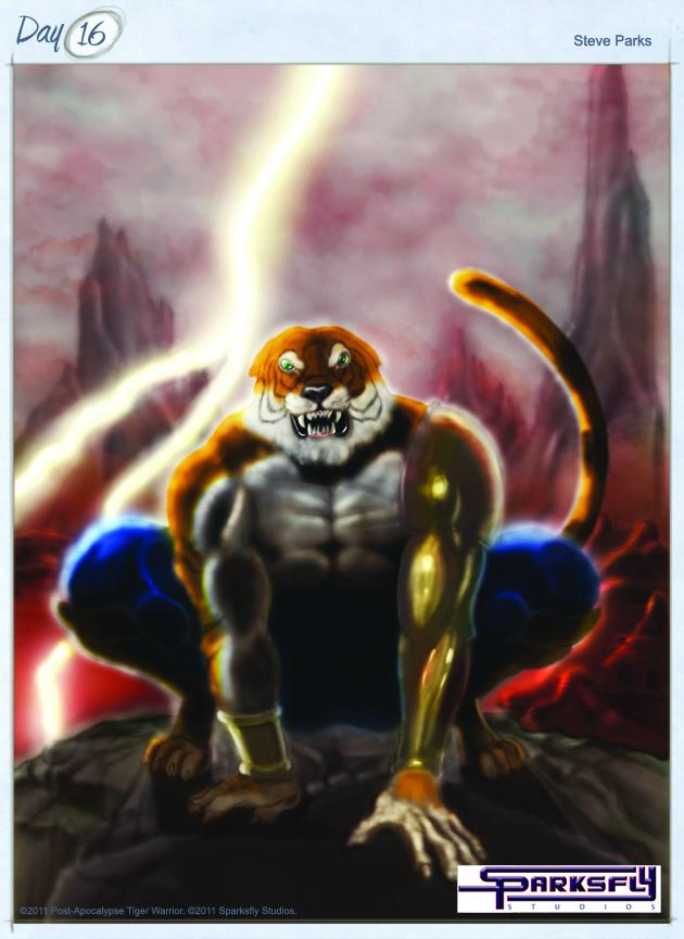 Post-Apocalypse Tiger Warrior