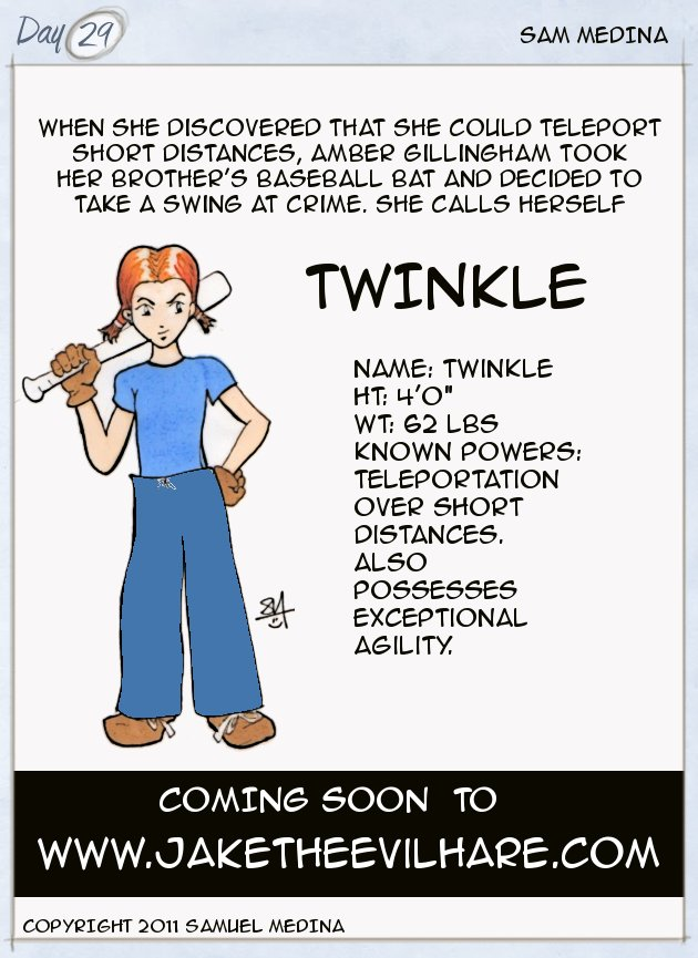 Twinkle, an 8 year old vigilante