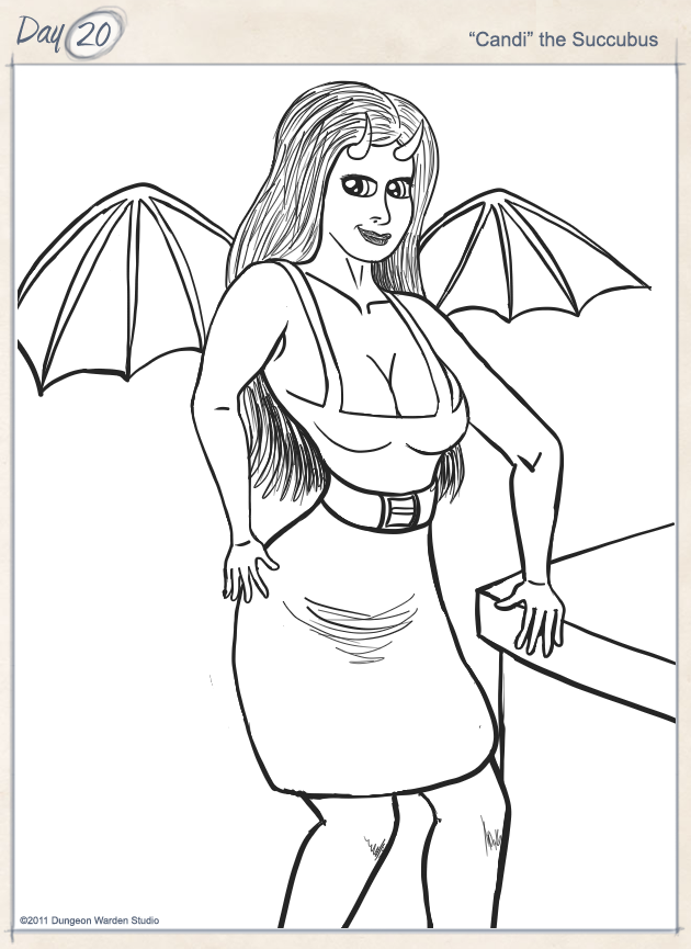 Day 20 - Candi the Succubus by George Ward