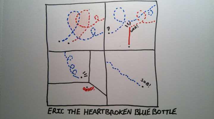 Eric the Heartbroken Blue bottle