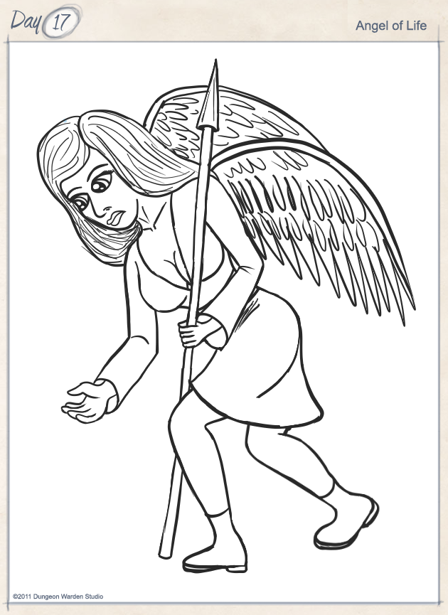 Day17 - Angel of Life by George Ward