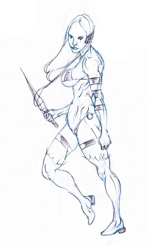hemlock, elven assassin