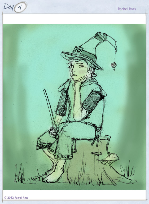 A Child on a Stump