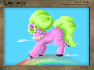 #11 Priscella Poof the Pink Pony