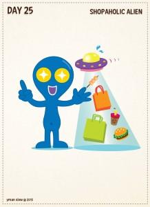Day25-Shopaholic Alien-01