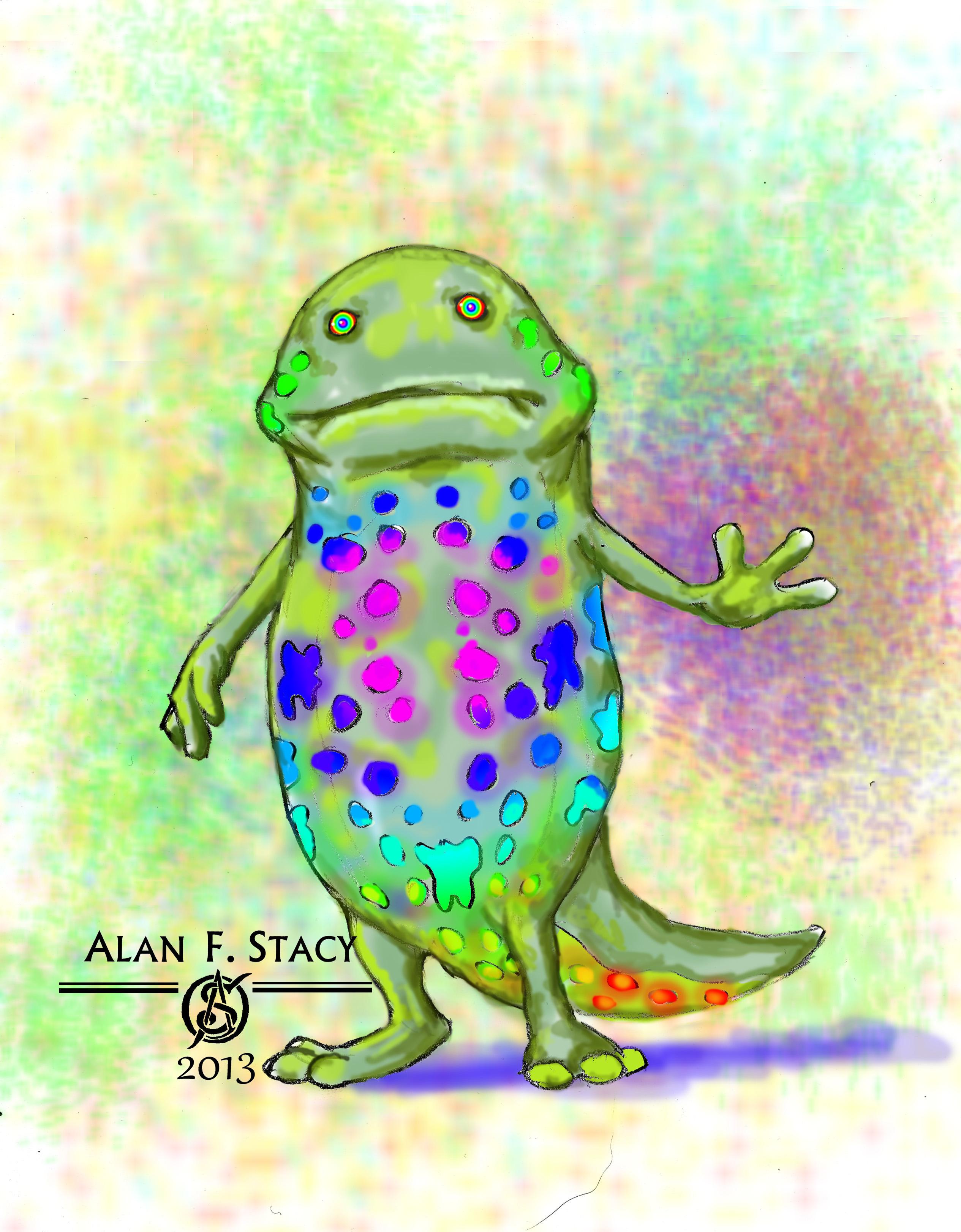 day 11 - rainbow lizard FINAL